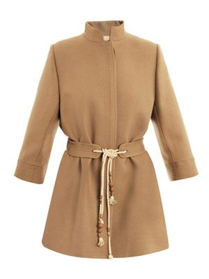 Desert beige wool coat