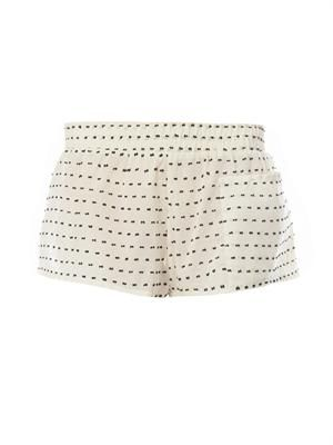Polka-dot cotton shorts