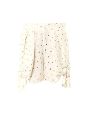 Embroidered jacquard shorts