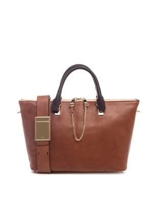 Baylee bi-colour leather tote
