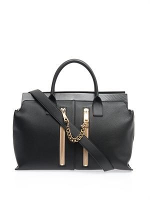 Cate double-zip medium leather tote
