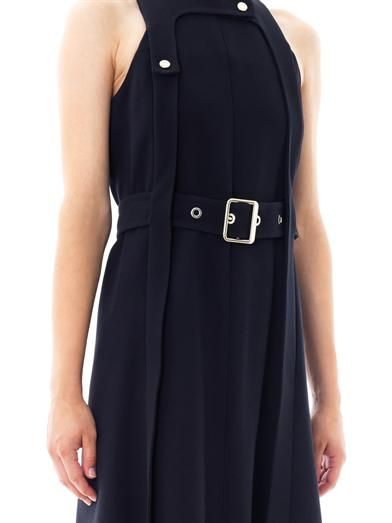 Chloé Belted crepe dress