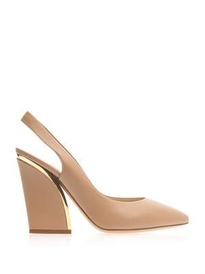 Point-toe slingback pumps