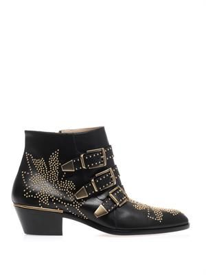 Susannah studded leather ankle boots