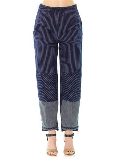 Chloé Stripe high-rise boyfriend jeans