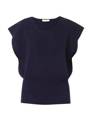 Ribbed-knit crew-neck sweater