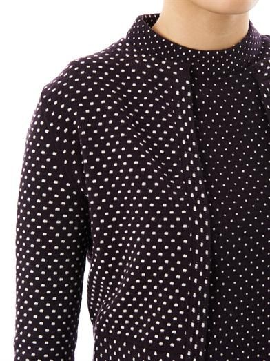 Chloé Polkadot cashmere and wool-blend cardigan