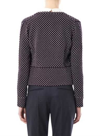 Chloé Polka-dot cashmere and wool-blend cardigan