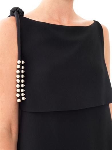 Chloé Pearl embellished crepe dress