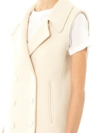 Chloé Micro boulette-wool sleeveless coat