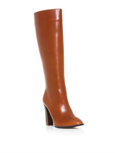 Chloé Leather knee-length boots