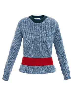 Santorini blue cashmere-blend sweater