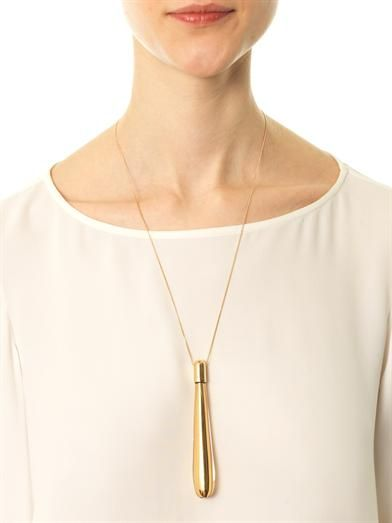 Chloé Blown glass pendant necklace