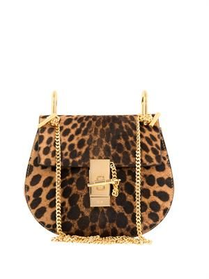 Drew small calf-hair shoulder bag