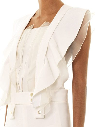 Chloé Cross-over back crepe dress
