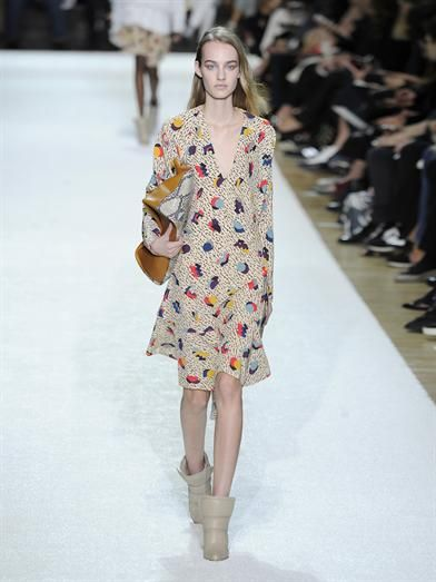 Chloé Memphis Geometric-print silk dress