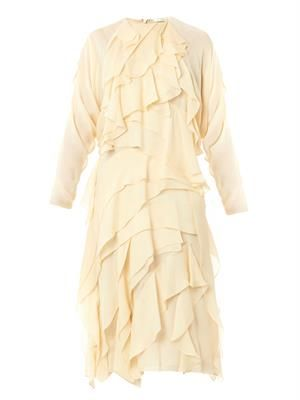 Layered silk-georgette dress