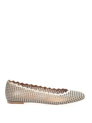 Capra laser-out scalloped-edge flats