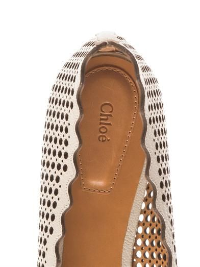 Chloé Capra laser-out scalloped-edge flats