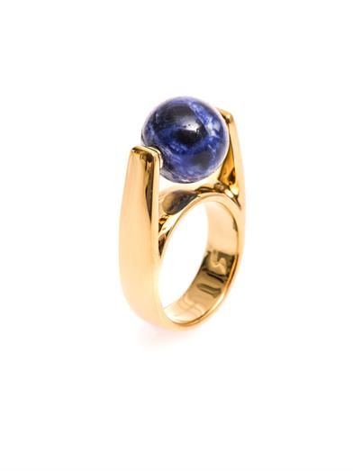 Chloé Abby lapis and gold-tone ring