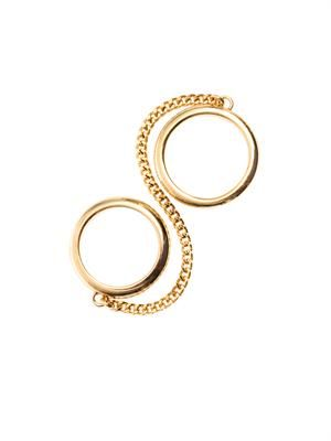 Carly double-chain ring