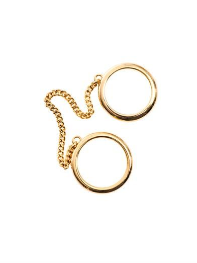 Chloé Carly double-chain ring