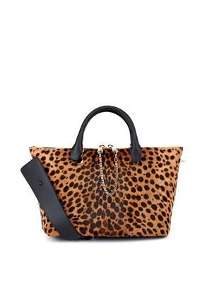 Baylee calf-hair and leather tote