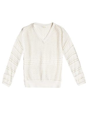 Novelty patchwork-knit sweater