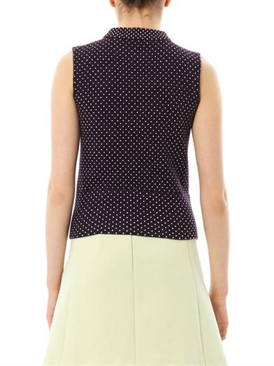 Chloé Wool and cashmere polka-dot top