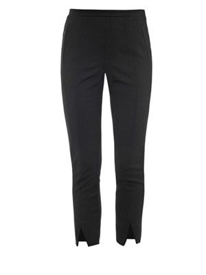 Wool-jersey cropped trousers