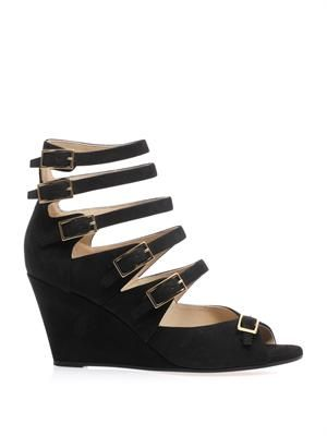 Cyllia multi-strap wedge sandals