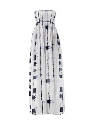 Bamboo-print bandeau maxi dress