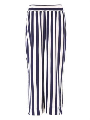Resort wide-leg stripe trousers