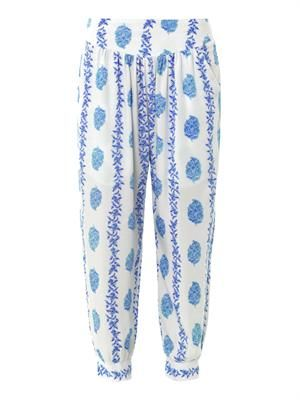 Surf floral-print trousers