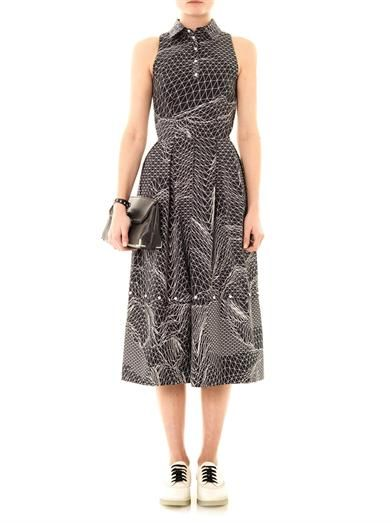 Christopher Kane Spiral-print sleeveless dress