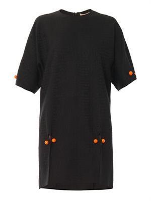 Snake-jacquard dress