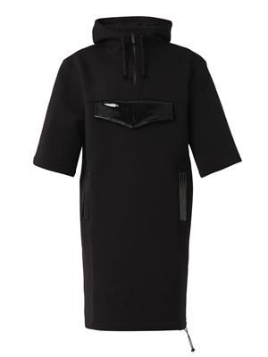 Hooded neoprene dress