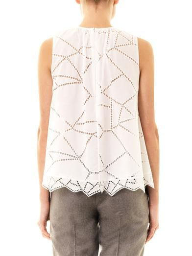 Christopher Kane Broderie anglaise sleeveless babydoll blouse