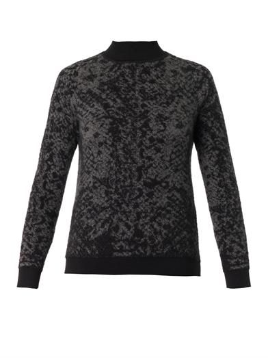 Christopher Kane Snake-intarsia cashmere-knit sweater