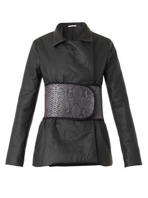Belted techno jacket