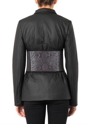 Christopher Kane Belted techno jacket