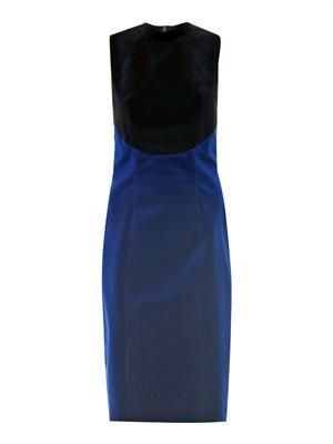 Bi-colour velvet dress