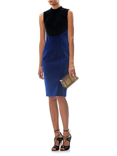 Christopher Kane Bi-colour velvet dress