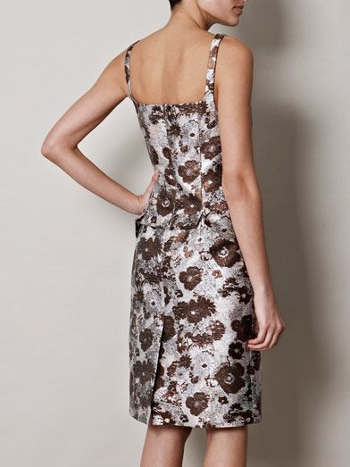 Christopher Kane Metallic brocade dress