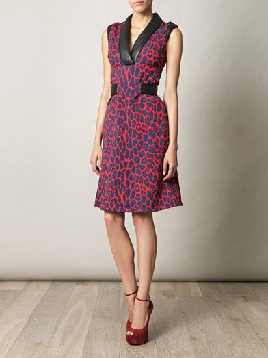 Christopher Kane Ponty leopard and leather dress