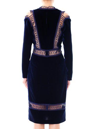 Christopher Kane Velvet loop tape trimmed dress