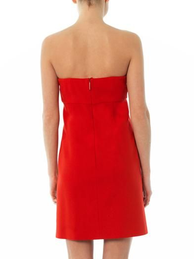 Christopher Kane Crystal button strapless dress