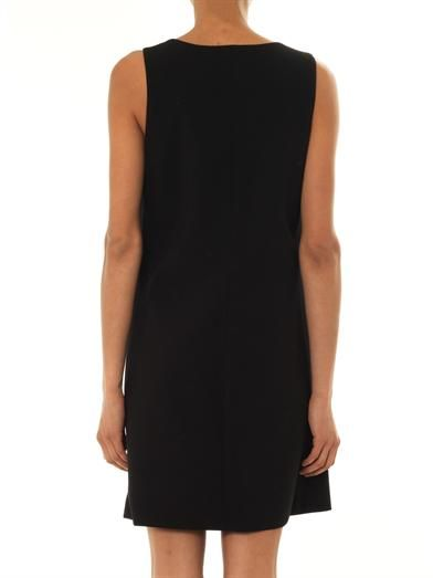 Christopher Kane Crystal-button wool-crepe dress