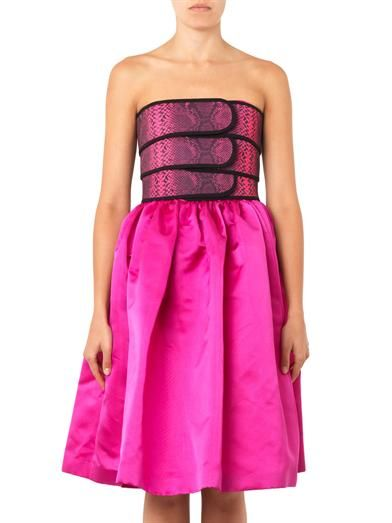Christopher Kane Banded-bustier strapless dress