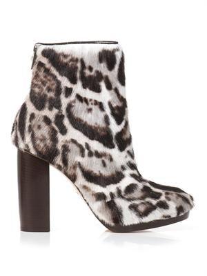 Jaguar goat-skin ankle boots